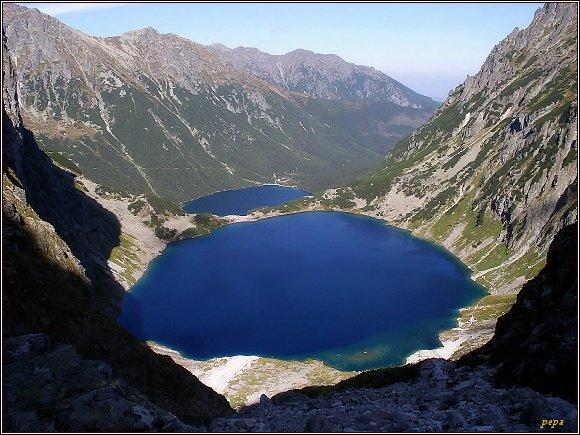 Vysoké Tatry. Czarny Staw a Morskie Oko