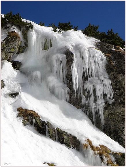 Vysoké Tatry, Mlynická dolina. Vodopád Skok, 17. 3. 2012