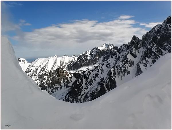 Vysoké Tatry ze Zlomiskovej štrbiny