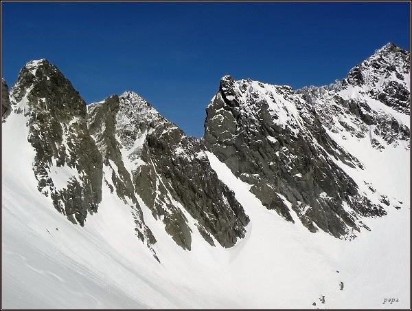 Snežné kopy, Východná Železná brána, Východný Železný štít a Popradský Ľadový štít