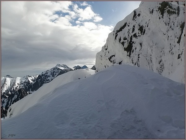 Masív Ľadového štítu ze Západnej Železnej brány