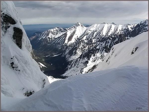 Závěr Bielovodskej doliny ze Západnej Železnej brány