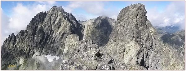 Vysoká, Rysy a Veľký Ganek z Rumanovho štítu