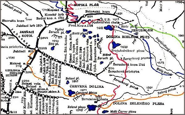 Kozí štít, mapa