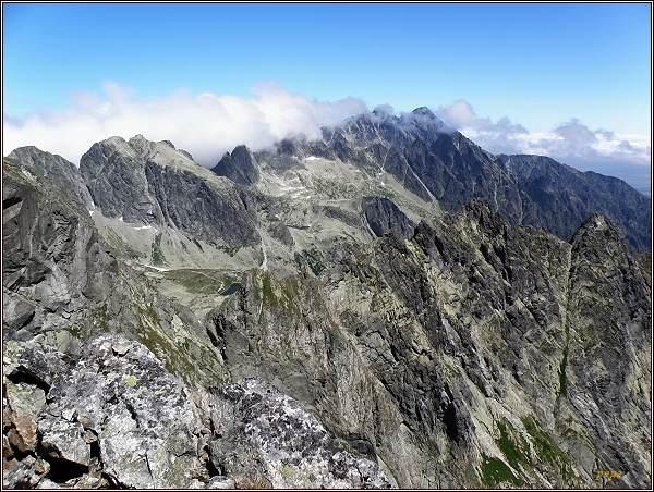 Východní část Vysokých Tatier z Rohatej veže