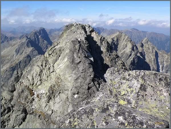 Severozápadní vrchol Vysoké z vrcholu jihovýchodního