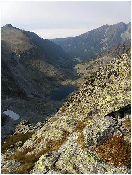 Východný Železný štít. Pohled do Doliny Zlomísk