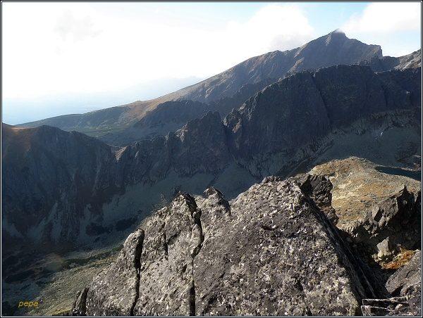 Furkotská dolina, sedlo Sedielkový priechod a Kriváň od Mlynického Soliska