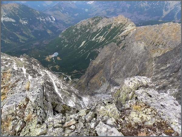 Čierna Javorová dolina z Javorová dolina z Ľadového štítu