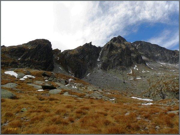 Malá Studená dolina. Pfinnova kopa, Malý Ľadový štít, Ľadový štít