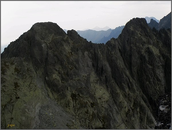 Popradský Ľadový štít (vlevo) z Drúku