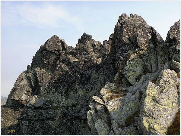 Východný Železný štít, vrcholová partie