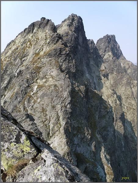 Západný Žel. štít, Zlobivá, Rumanov štít a Ganek z Prostrednej Sneznej kopy