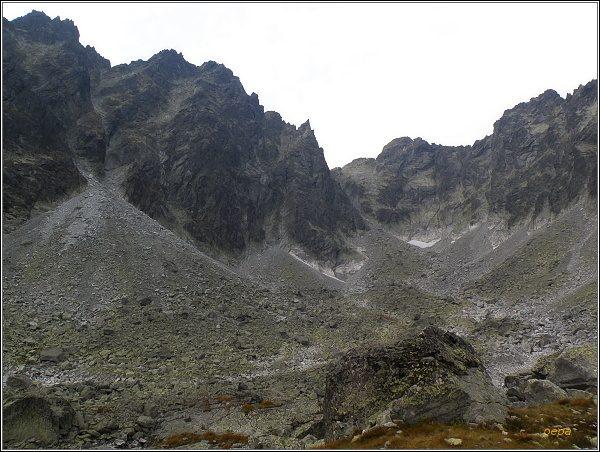 Drúk a Sedlo pod Drúkom nad Batizovskou dolinou