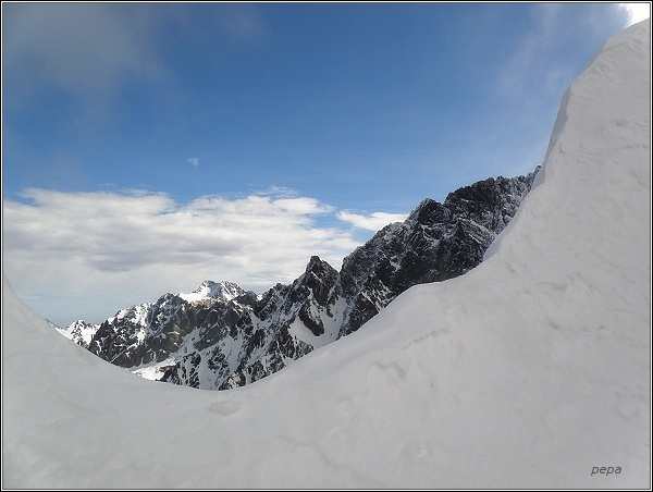 Ľadové štíty ze Zlomiskovej štrbiny