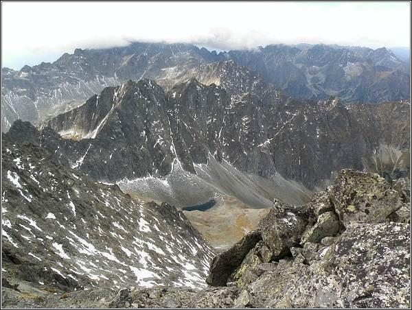 Javorová dolina a Javorové štíty z Ľadového štítu