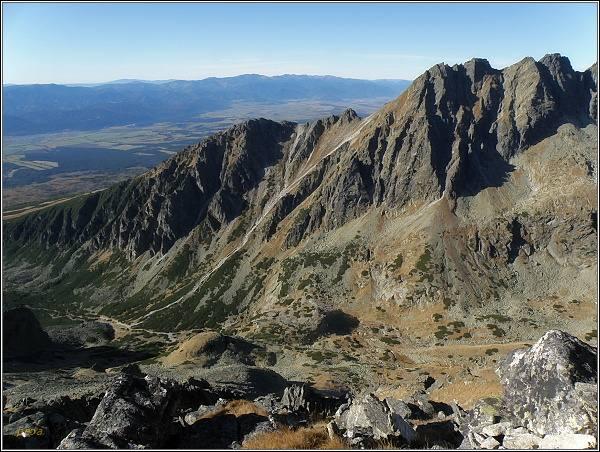 Jižní část Soliskového hrebeňa z Prednej Bašty