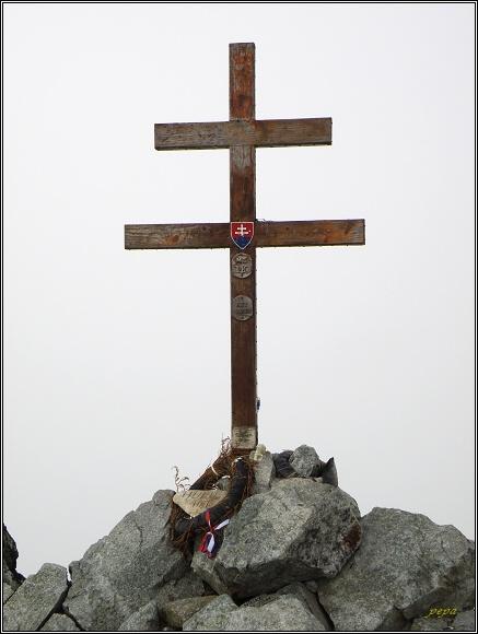 Slovenský národní symbol na vrcholu Kriváňa