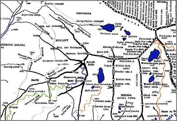 Kriváň, mapa