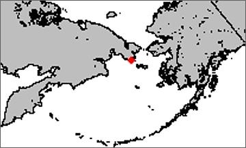 Mapa s vyznačením přístavu v Emmě