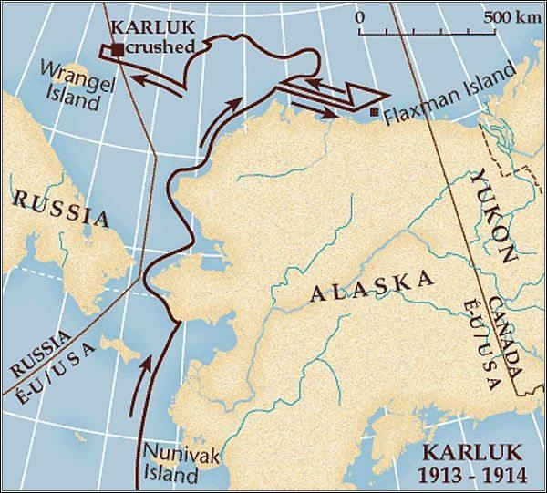 Plavba a drift lodi Karluk
