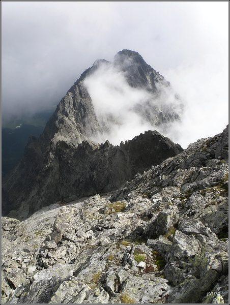 Vidlový hrebeň a Kežmarské štíty z Lomnického štítu