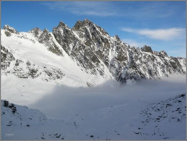 Veľká Studená dolina. Žltá veža, Prostredný hrot