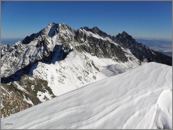 Ľadové štíty, Pyšné štíty, Lomnický štít a Prostredný hrot ze Svišťového štítu