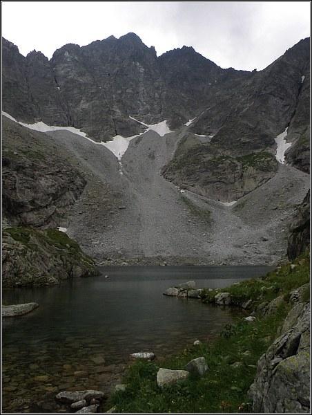 Severní stěna Vysokej nad Ťažkou dolinou