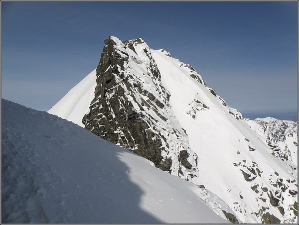 Štrbina ve Vysokej a severozápadní vrchol