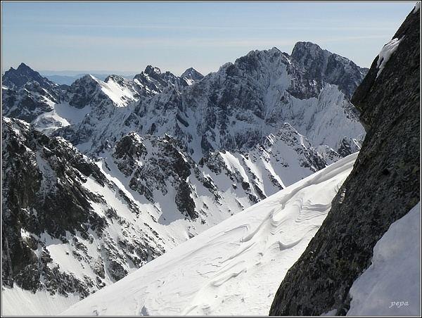 Pohled z Vysokej ke Gerlachovskému štítu
