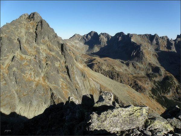 Predná Bašta a Mengusovská dolina z Malej Bašty