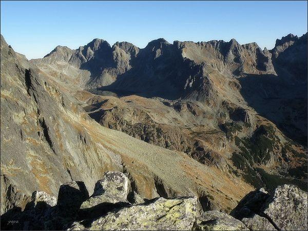 Mengusovská dolina a Hincova kotlina z Malej Bašty