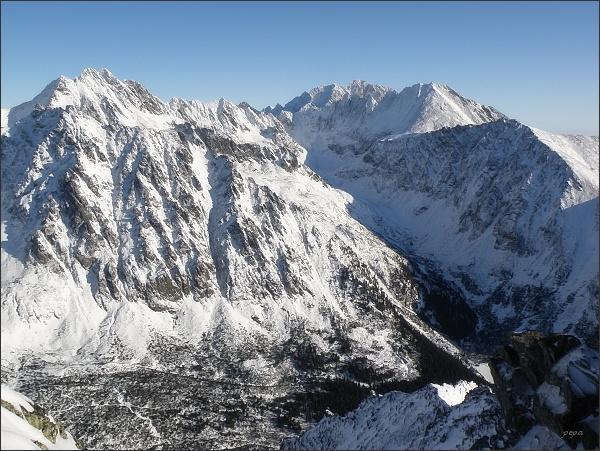 Mengusovská dolina a Dolina Zlomísk z Malej Bašty