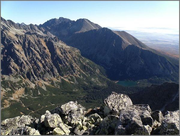 Západný hrebeň Končistej (Končistá uprostřed, Lúčne sedlo, Tupá, Ostrva)