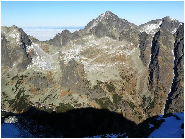 Ľadové štíty ze Slavkovského štítu