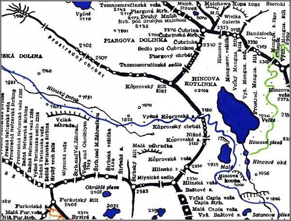 Štrbský štít, mapa