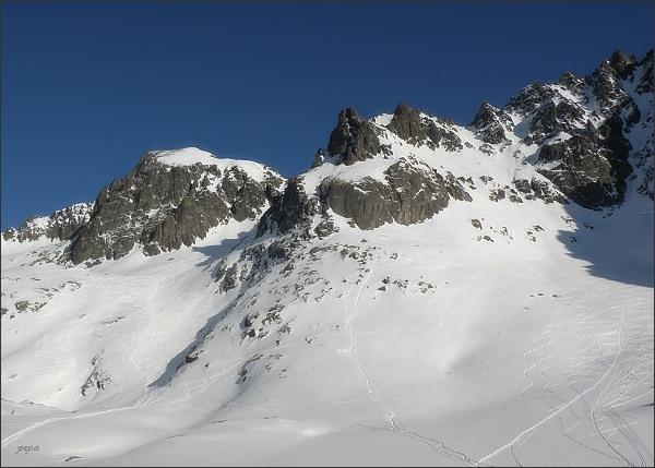 Baranie rohy a Spišský štít nad Kotlinou Piatich Spišských plies