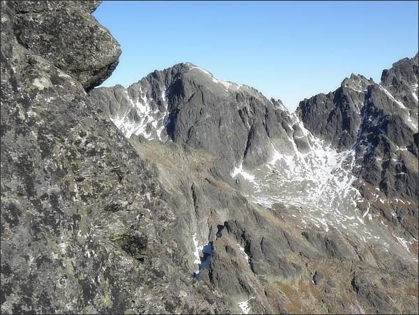 Baranie rohy s Baraňou galériou, Baranie sedlo a Spišský štít od Pfinnovej kopy