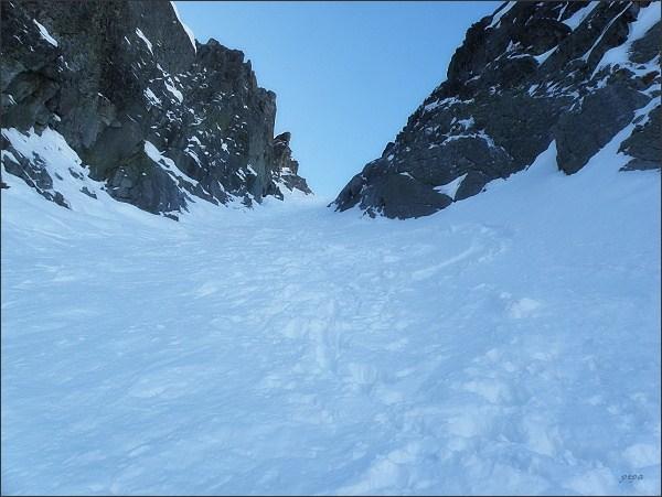 Baranie sedlo ze strany Veľkej Zmrzlej doliny