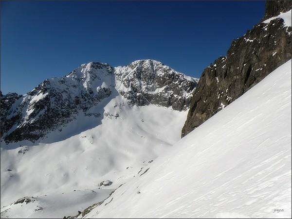 Ľadové štíty z úbočí Baraních rohov