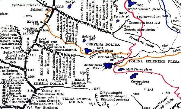 Jastrabia veža, mapa