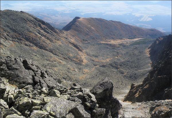Dolina Suchej vody, Sedielkový priechod a Sedielková kopa z Krátkej