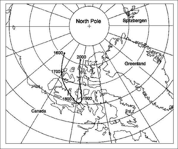 Putování severního magnetického pólu