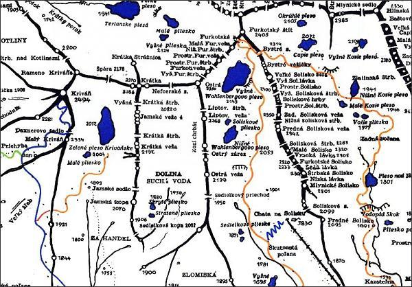 Ostrá, mapa