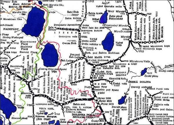 Rysy, mapa