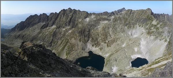 Hrebeň Solísk ze Štrbského štítu