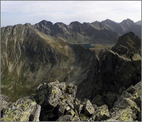 Závěr Hlinskej a Mengusovskej doliny ze Štrbského štítu