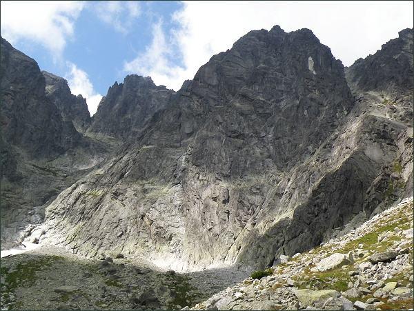 Kežmarský štít  nad Skalnatou dolinou