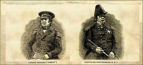 Kapitán Francis Rawdon Moira Crozier a kapitán John Franklin